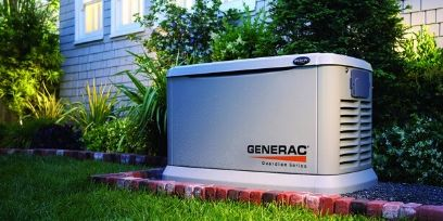 Generac generator outside of Richmond house